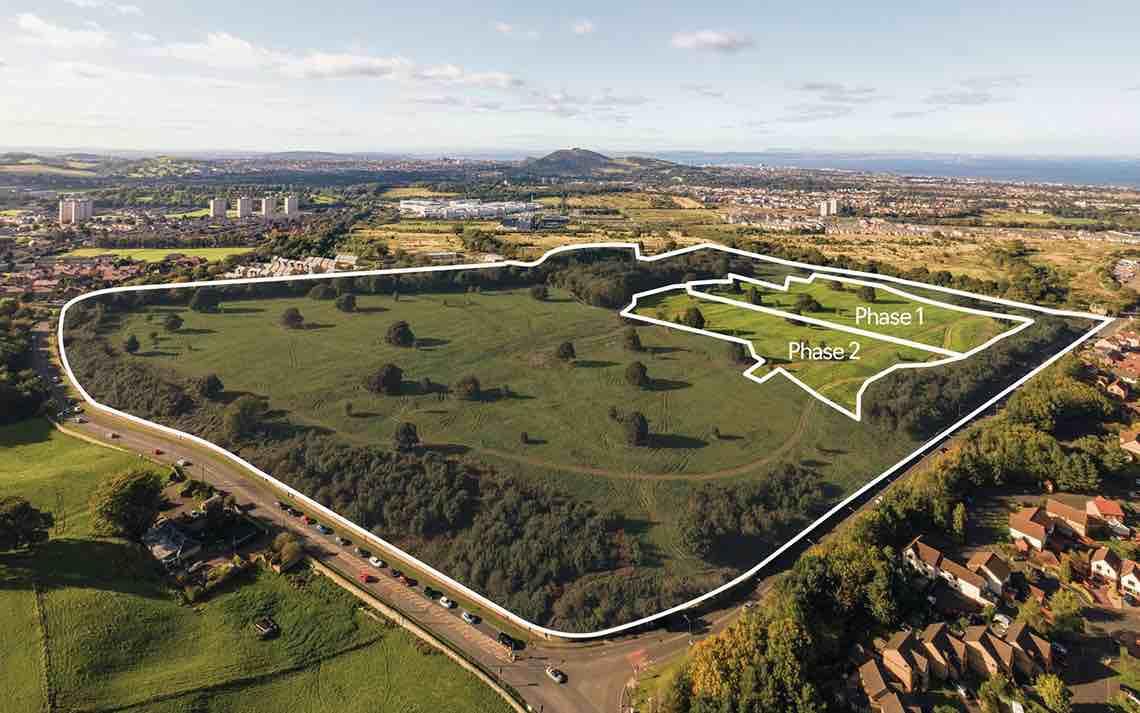 First phases of £210 million Edmonstone residential development in Edinburgh on the market